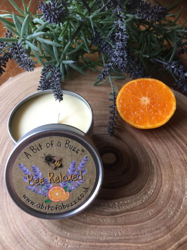 Lavender & Orange  Beeswax Candle 100g